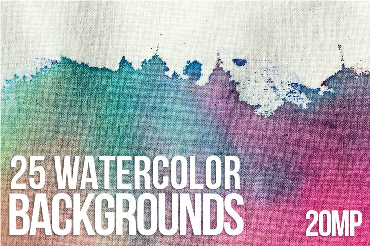 25 WATER COLOUR BACKGROUNDS