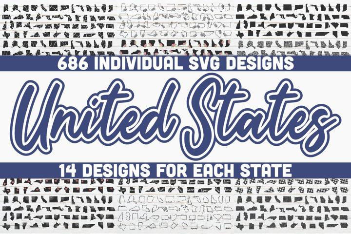 United States SVG Bundle | 686 Designs | SVG cut files