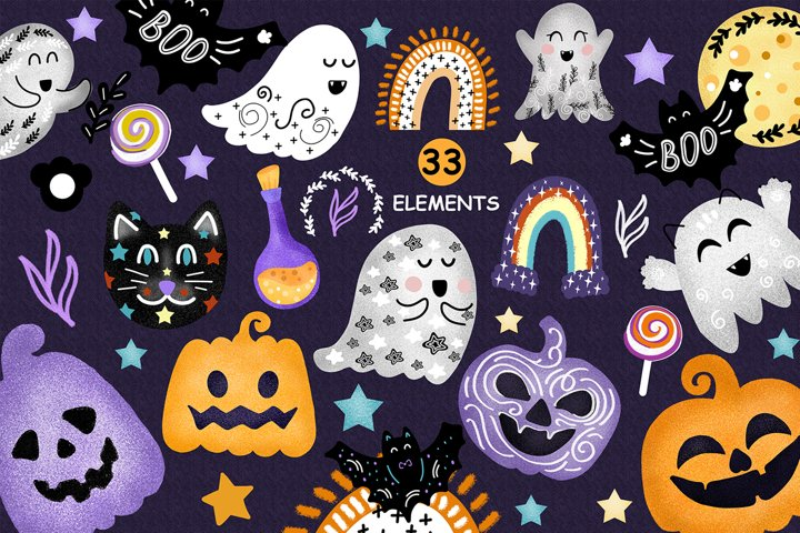 Colorful halloween clipart