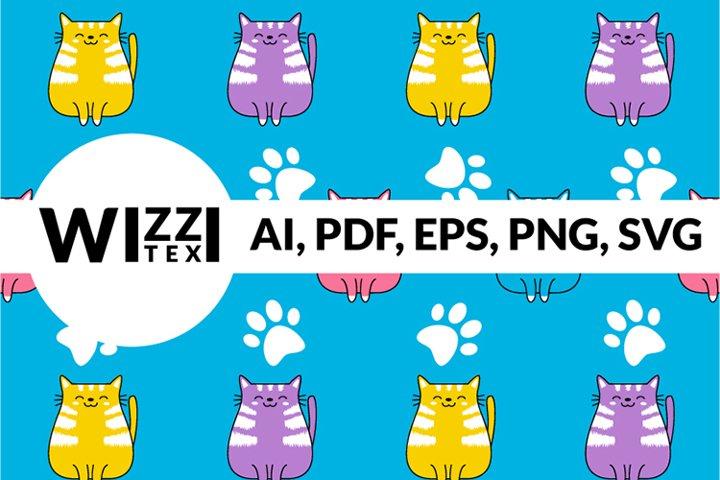 Fun Cats Sock Pattern Graphic