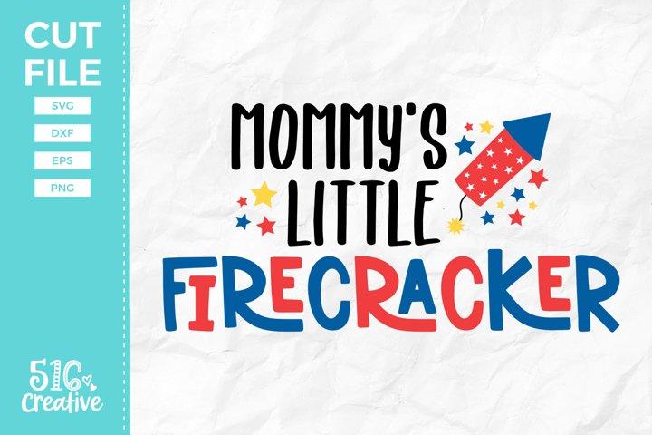 Mommys Little Firecracker SVG DXF EPS PNG