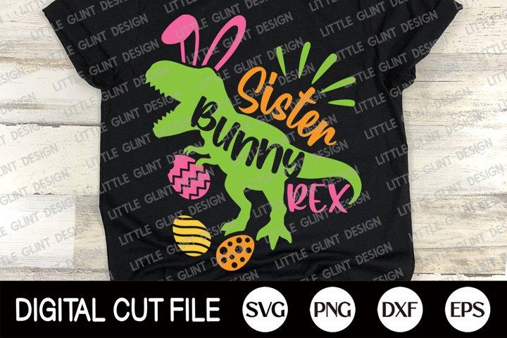 Easter Bunny Dinosaur Svg, Sister Bunny Rex, Sister Shirt