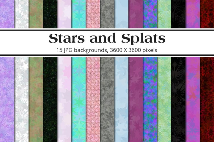 Stars and Splats Background Pack