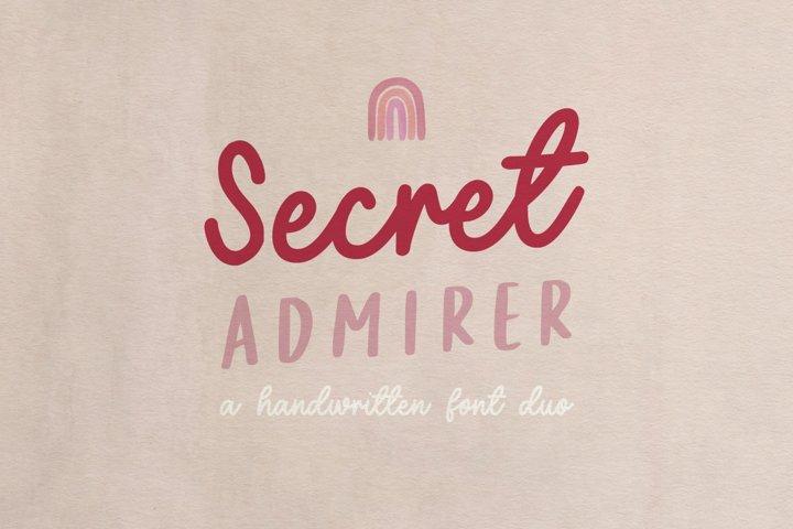 Secret Admirer handwritten font duo