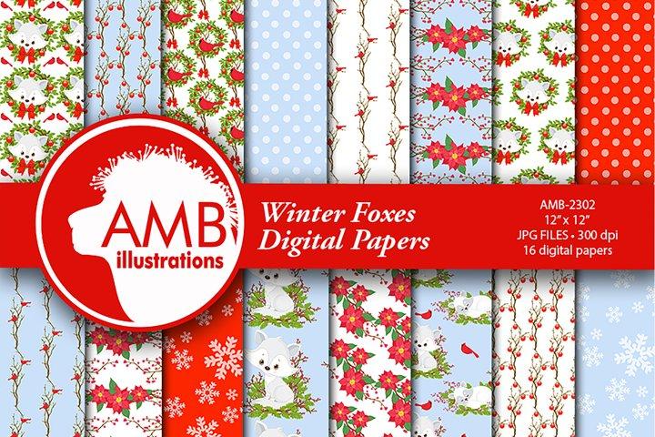 Winter Fox Digital Patterns, Winter Fox Papers, AMB-2302
