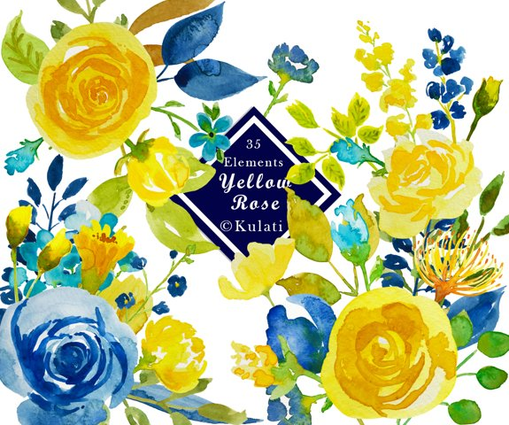 Yellow Rose Graphics / Clipart