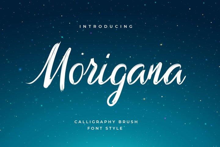 Morigana Hand Brush Calligraphy Font