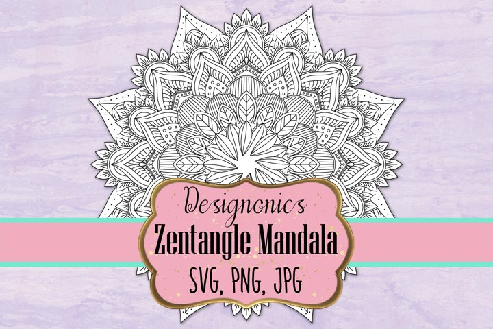 Zentangle Mandala 4 - SVG, PNG, JPG