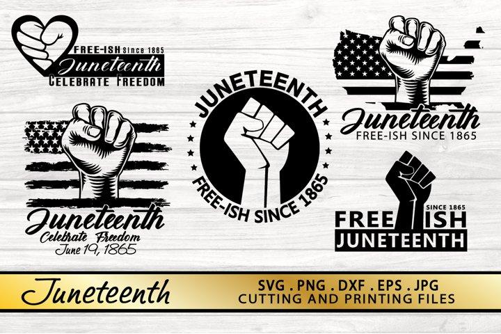 JUNETEENTH SVG BUNDLE Juneteenth SVG PNG DXF EPS Files