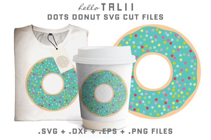 Dots Donut SVG Cut Files