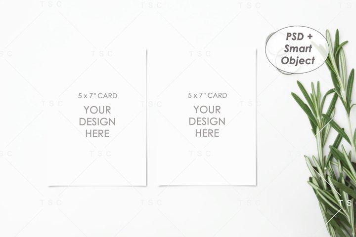 5 x 7 Card Mockup