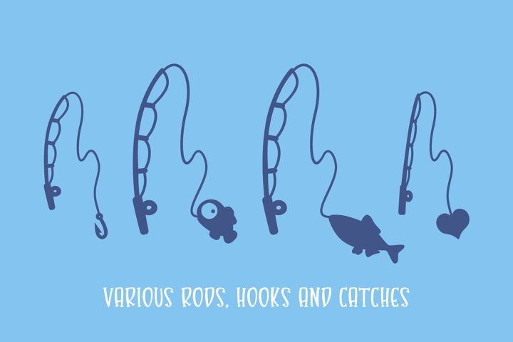 Gone Fishing - a fishing line font - Free Font Of The Week Design4