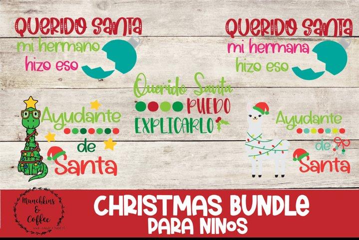 Kids Christmas Shirt Bundle - Spanish