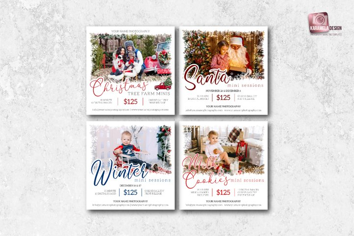 Holiday Marketing Templates for Photographers