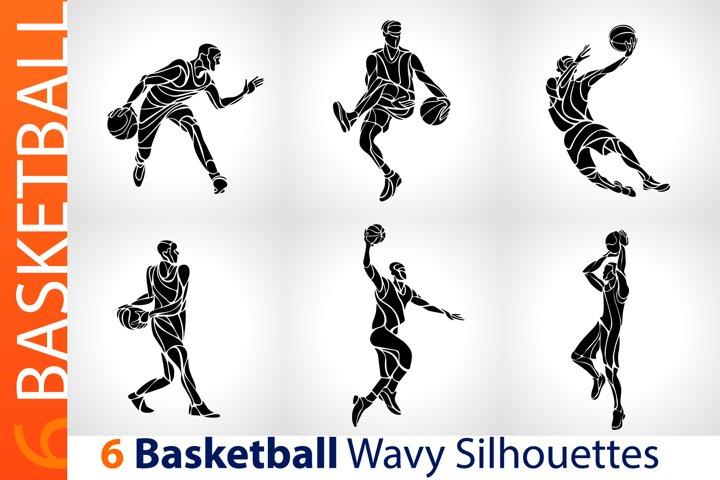 Basketball Players / Basketball Black Abstract Silhouettes