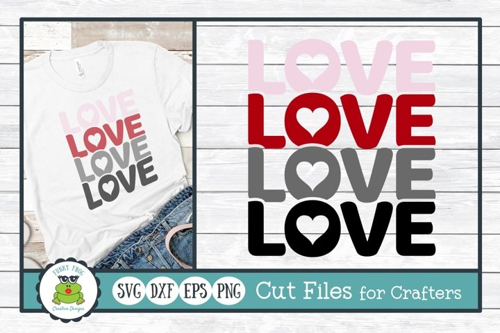 Stacked Love, Valentine SVG Cut File for Crafters