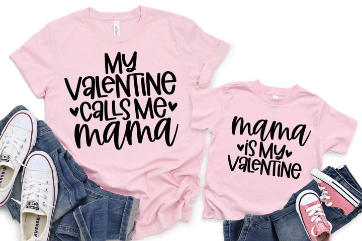 Mommy And Me SVG - Valentines Day SVG - Digital File