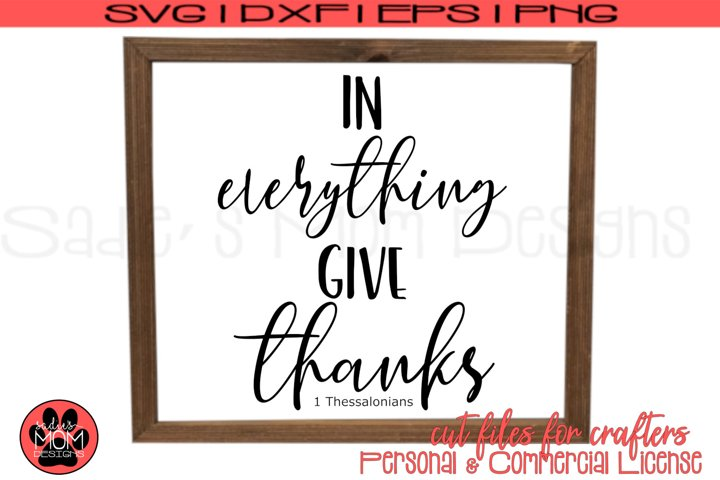 Give Thanks SVG Files| Vinyl or Stencil Cut Files