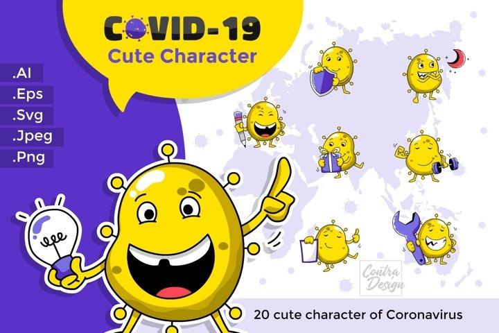 Cute Covid-19 Bundle. yellow