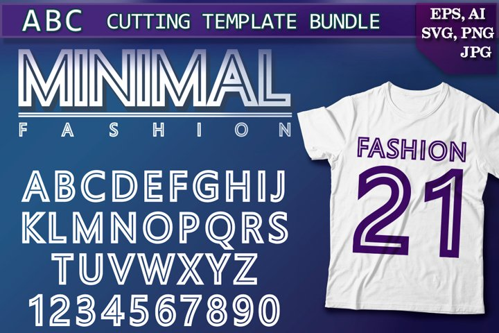 Minimal font Fashion alphabet Cutting SVG Template Bundle