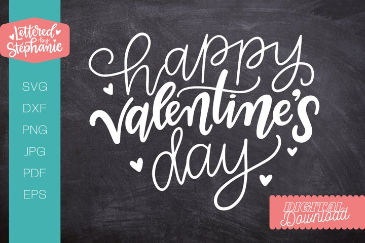 Happy Valentines Day SVG cut file, valentine svg