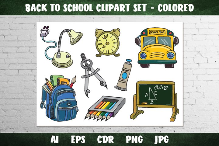Back to School Clipart Set
