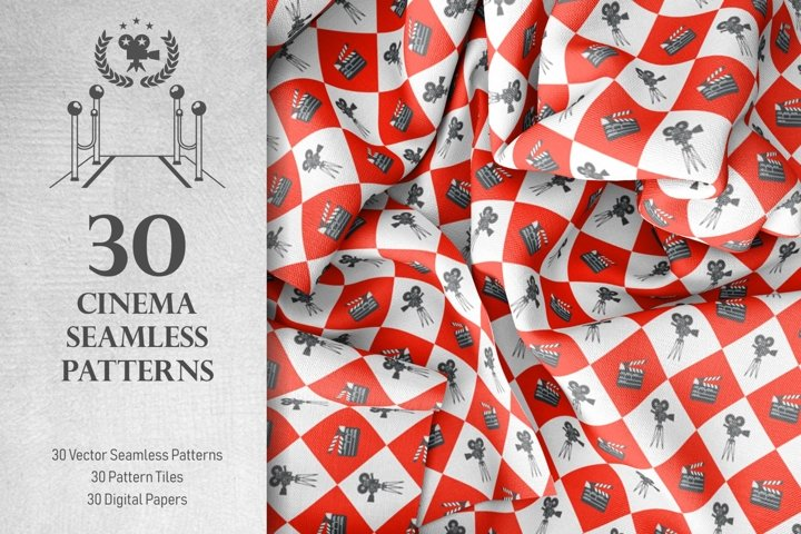 30 Cinema Seamless Patterns