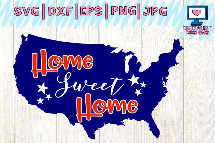 4th of july svg, america svg, farmhouse svg, home sweet home svg, 4th of july svg, patriotic svg, american flag svg, cricut
