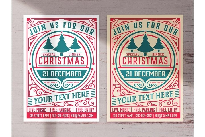 Christmas Party Graphic Flyer Layout