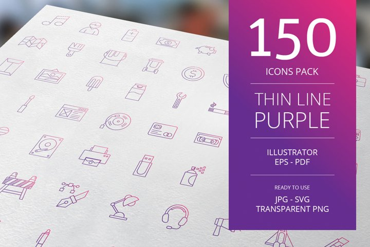 150 Purple Icons Pack