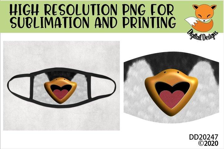 Funny Penguin Beak Sublimation Design For Face Masks
