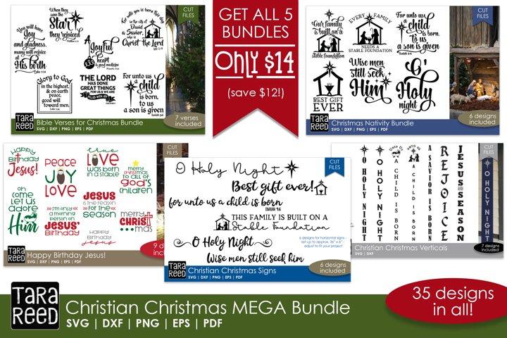 Christian Christmas MEGA Bundle - SVG Files for Crafters