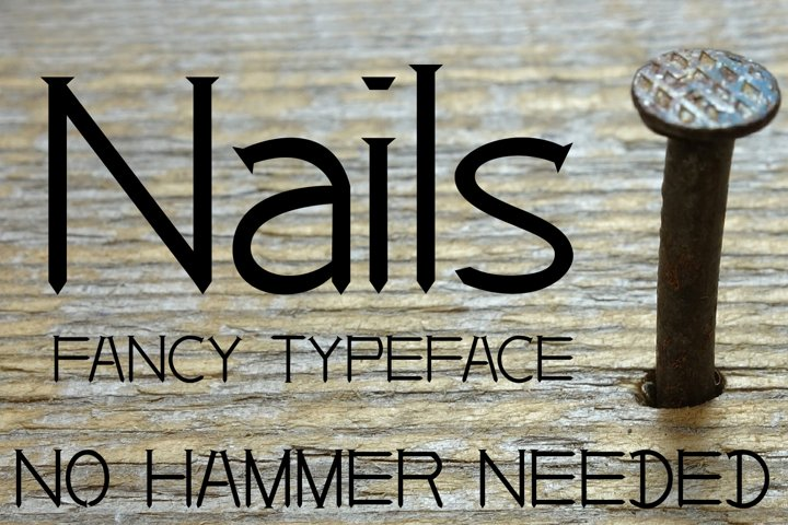 EP Nails - Fancy Typeface