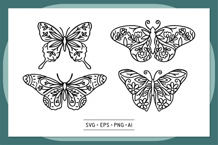 Butterfly Hand drawn - 0003