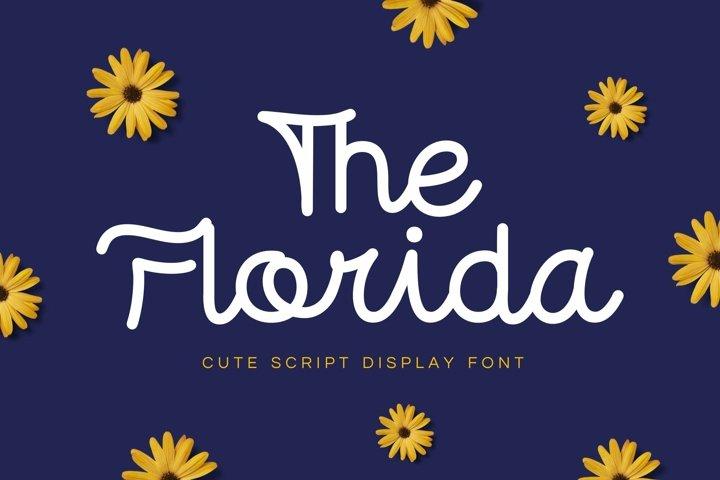 Web Font Florida - Cute Script Font