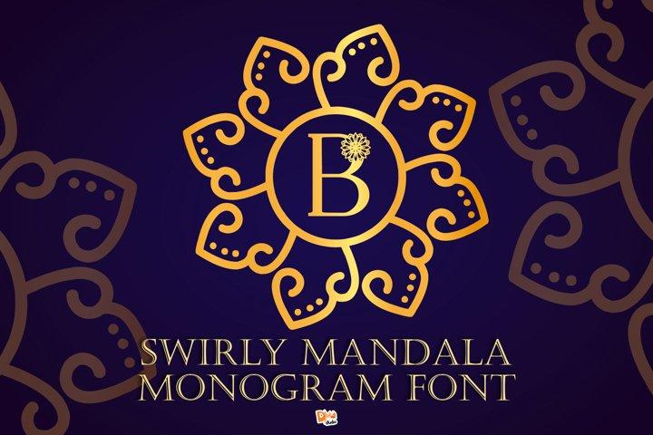 Swirly Mandala Monogram Font