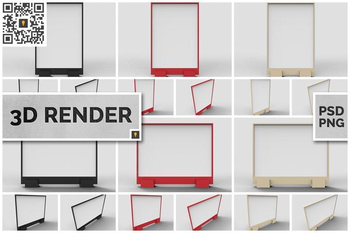 Flyer Display 3D Render