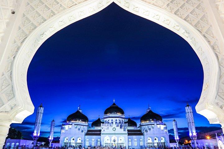 Baiturrahman Grand Mosque in Aceh Indonesia
