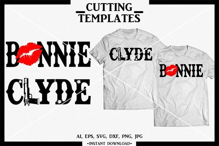 Bonnie and Clyde SVG, Couple Shirts, Silhouette, Cricut, SVG