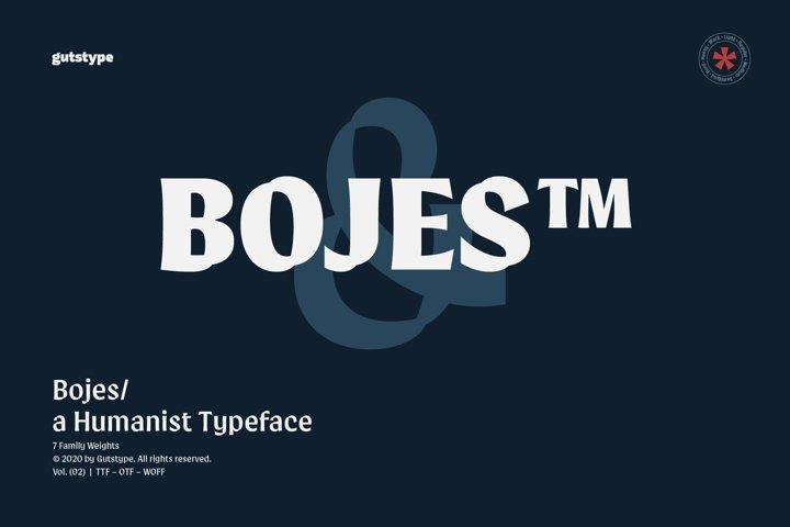 Bojes Typeface