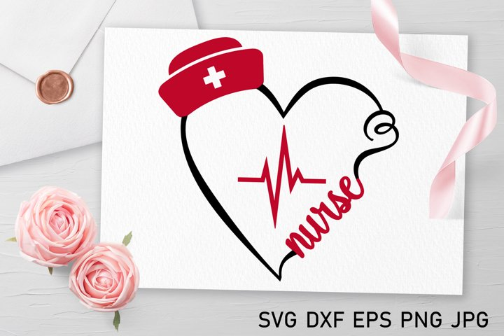 Nurse svg Medical svg Heartbeat svg Heart svg