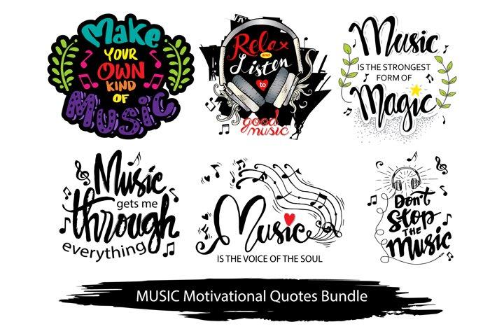 Music motivational quotes bundle.