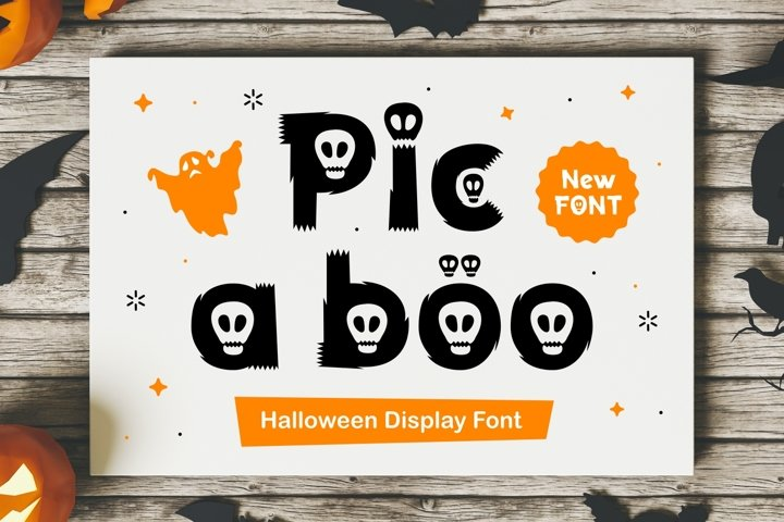 Pic A Boo - Halloween Display Typeface