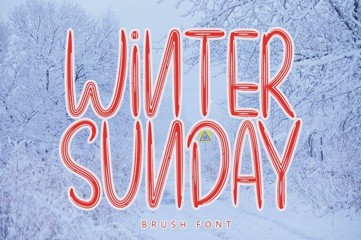 Winter Sunday - Unique Brush Font