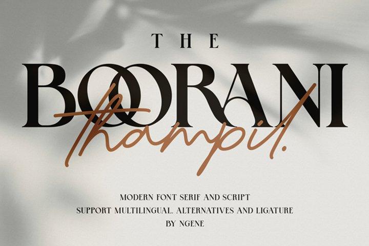 The Boorani Thampil Font Duo
