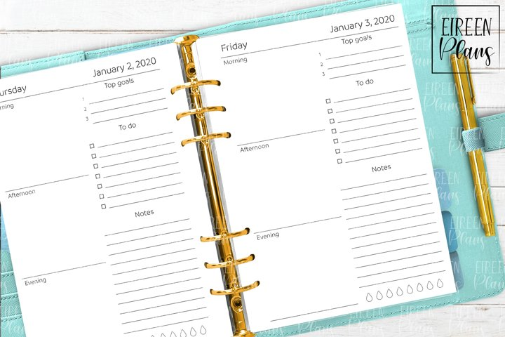 2020 Daily printable inserts for A5 planners