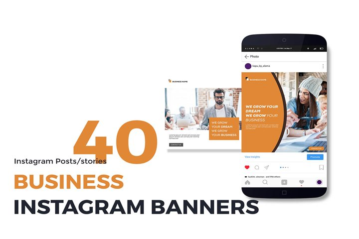 40 Business Instagram posts and stories templates