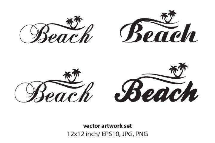 Beach - vector artwork set