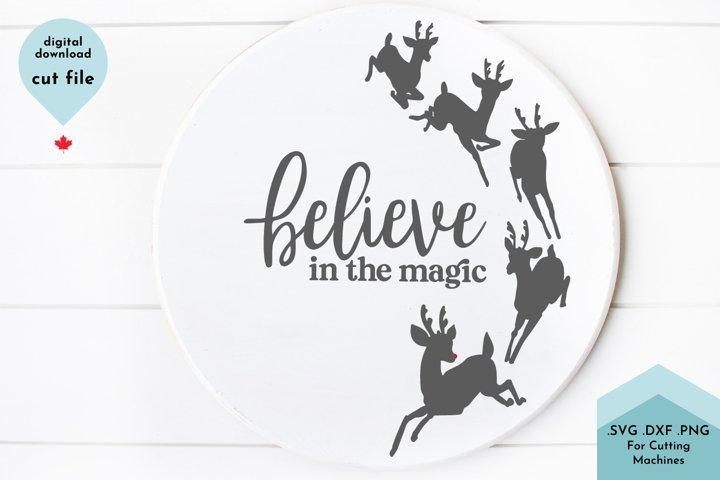 Believe in Magic Christmas Reindeer SVG
