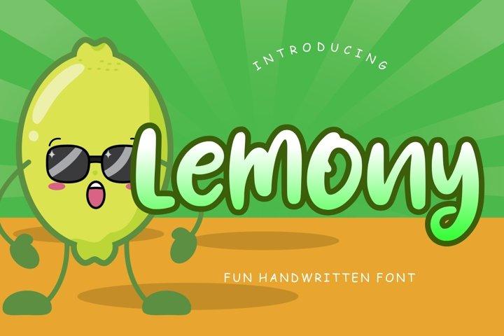 Lemony Fun Handwritten